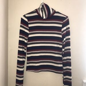 NEVER WORN striped long sleeve turtleneck